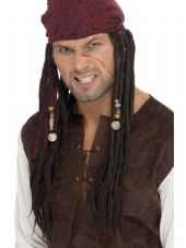 Pirate Dreadlocks Wig with Headscarf